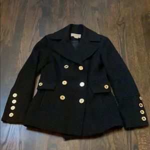 Michael Michael Kors XS black wool pea coat
